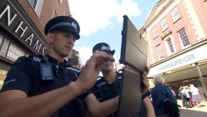 Police with computer